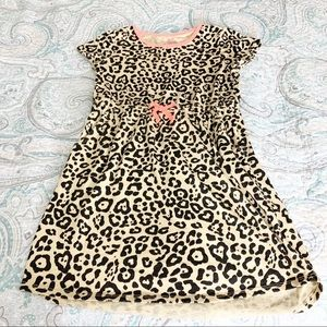 Cheetah Print Cotton Dress